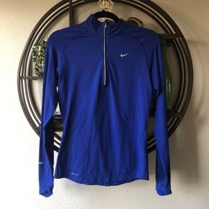 Nike Dri Fit 1/4 zip pullover royal blue